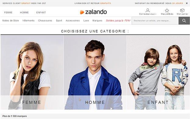 Site Internet Zalando