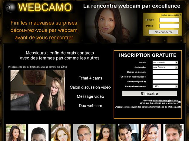 Webcamo, rencontre gratuite par webcam
