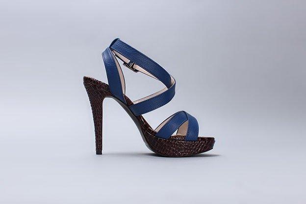 Sandales bleues à talons