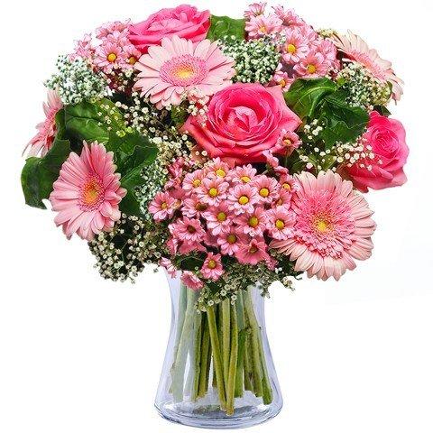 Bouquet de Roses et Gerberas Roses