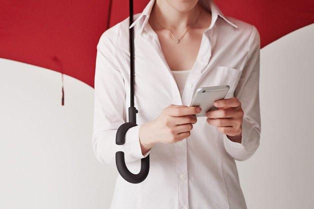 parapluie inversé pratique