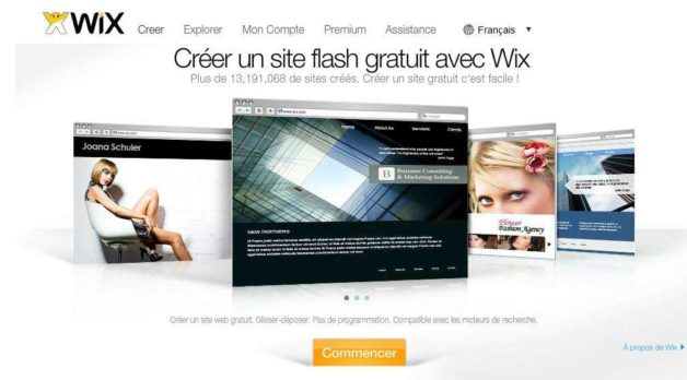 wix creation site web