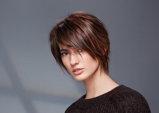 Coupe de cheveux effilee degradee