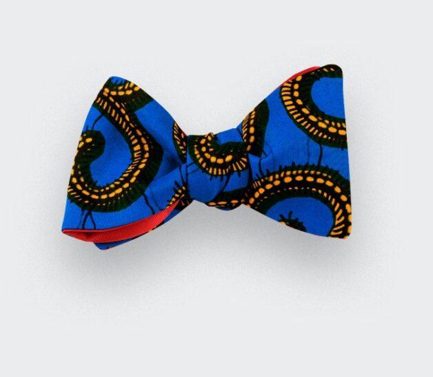 Noeud papillon Wax Bleu Jaune