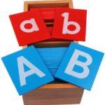 Montessori Lettres De Papier Sablé avec Boîte
